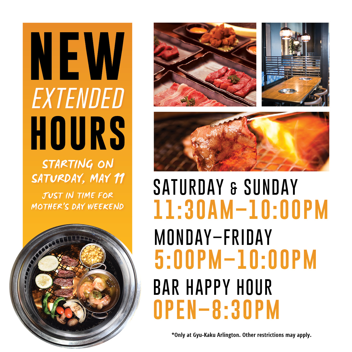 New extended hours for Gyu-Kaku Arlington