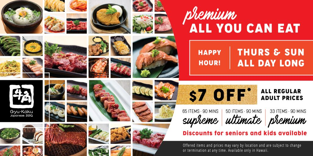 Happy Hour Premium All You Can Eat