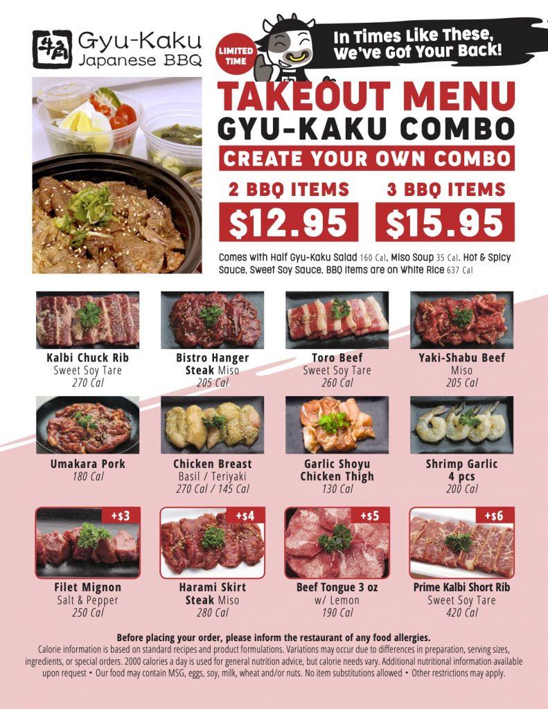 Gyu-Kaku Combo - Takeout Menu