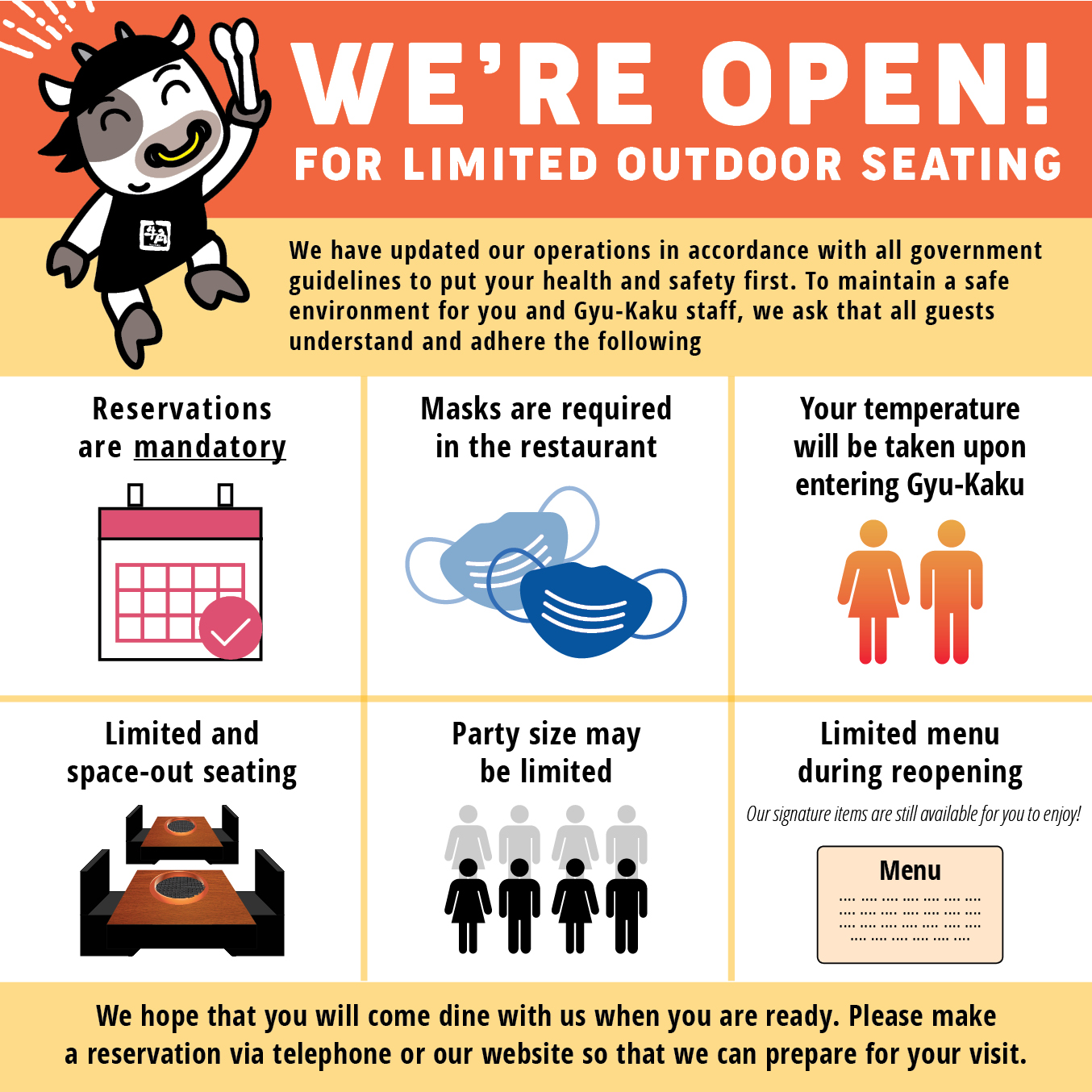 Open for Outdoor Seating